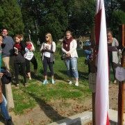 With Joanna Czaban visiting the grave of Belarussian writer Sokrat Janowicz
