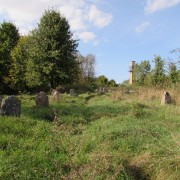 What remains of the Jewish cemetery
