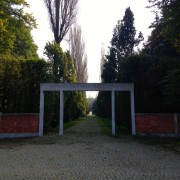 Entrance gate to the Monument of Shared Memory.