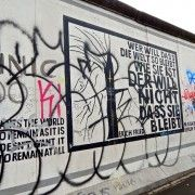 An example of vandalism at the East Side Gallery