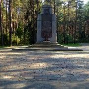 One of the only memorials at Paneriai forest