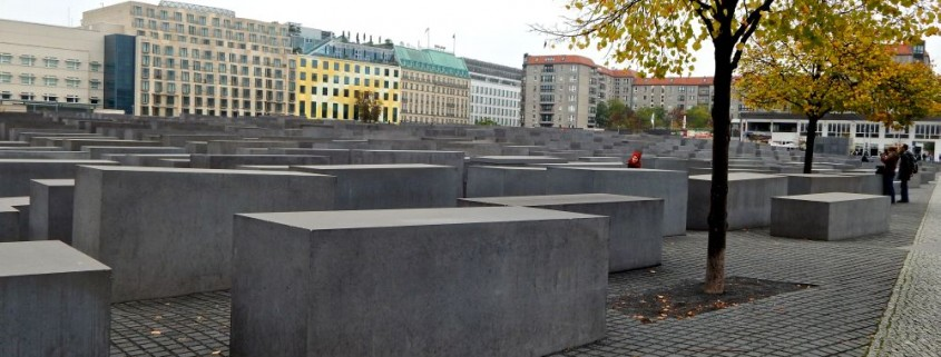 A view of the Memorial to the Murdered Jews of Europe