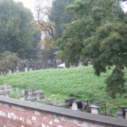 The Jewish Cemetery of Kazimierz, in Krakow, Poland, where Jews of the once vibrant community were laid to rest.