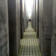 Within the stelae of the Memorial to the Murdered Jews of Europe