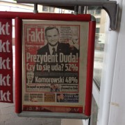 Duda's Victory Newspaper in Wrocław's Rynek