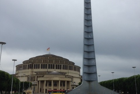 Centennial Hall in Wrocław and the Spire