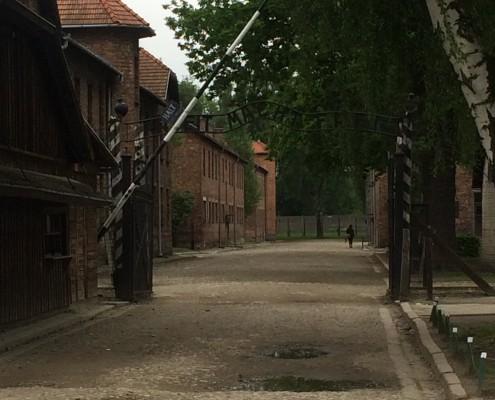 Entrance to Auschwitz I_Arbeit Macht Frei