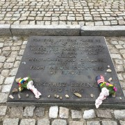 Memorial for those who perished located between Crematorium II and III of Auschwitz-Birkenau