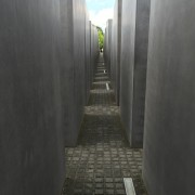 Pathway between the Stelae (stones) of the Memorial