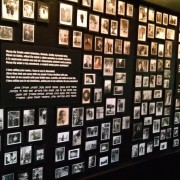 Photo Wall in Auschwitz II Berkenau