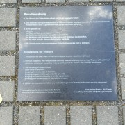 Rules Placed on the Ground for the Memorial of the Murdered Jews of Europe