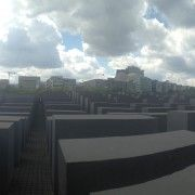 Panorama of Berlins's Memorial to the Dead Jews of Europe