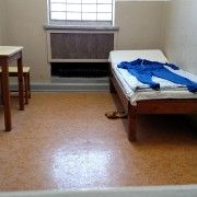 This is a picture of the newly added prison cells. Toward the end of the 1980s the prisoner was given pajamas, a sink, toilet, tables, and bed sheets. The prisoners in these cells were kept isolated from others.  Photo by Jacquelyn Myers