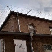This is the view of the infirmary on the prison camp site