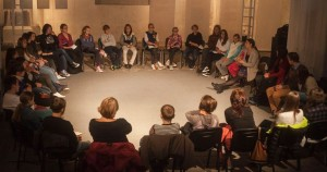 Workshop promoting dialogue among the Ukrainian students. Photo credit: Borderland Foundation's Facebook page