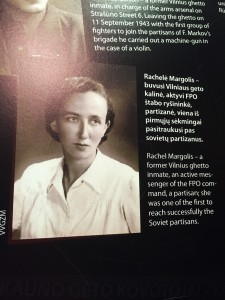 """Rachele Margolis - a former Vilnius ghetto inmate, an active messenger of the FPO command, a partisan; she was one of the first to reach successfully the Soviet partisans."""