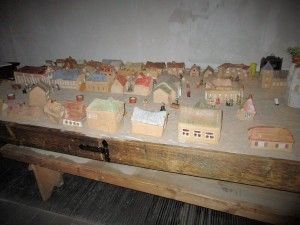 Clay model of the Old town in Sejny, which had a prominent Jewish population before the war