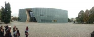 Outside the the Museum of the History of Polish Jews. Taken by- Domenca Vera