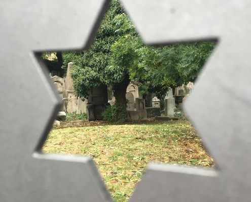 A cemetary in Prague