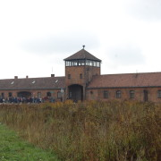 The entrance to Birkenau.