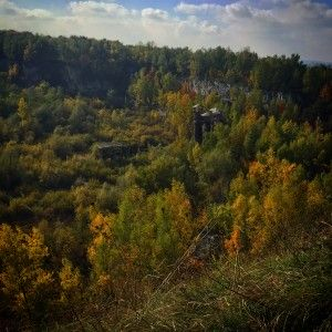 An abandoned quarry in Krakow that was used as a labor camp during Nazi occupation
