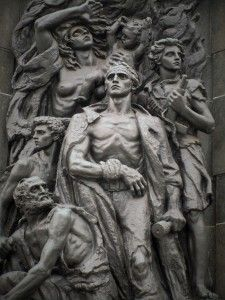 Memorial dedicated to the fighters of the Warsaw Ghetto Uprising in Warsaw