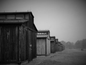 Wooden Barracks where hundred of prisoners were cramped in unsanitary conditions