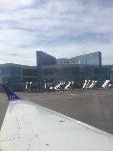 Arrival in Vilnius, Lithuania