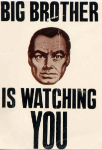 Common Propaganda described to be all over the city in George Orwell's 1984