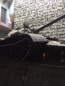 T-55 battle tank in the House of Terror museum