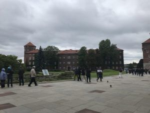 Austrian military buildings added to Wawel Hill in the 19th century.