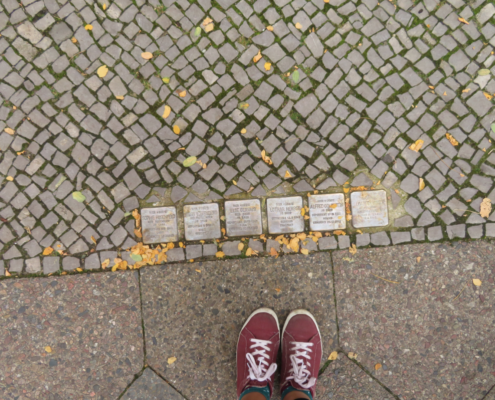 """Stumbling Stones"" in Schöneberg. Courtesy of Cynthia Wang"