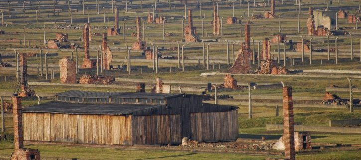 The Remaining Structures at Auschwitz-Birkenau (Source: https://www.vosizneias.com/wp-content/uploads/2012/02/Poland-US-Holocaust_sham-725x485.jpg)