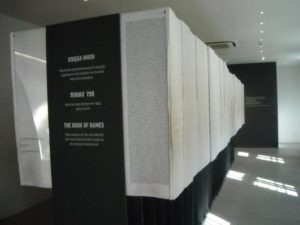 The Book of Names in Block 27 (source: https://media-cdn.tripadvisor.com/media/photo-s/0a/22/81/cc/auschwitz-birkenau-state.jpg)