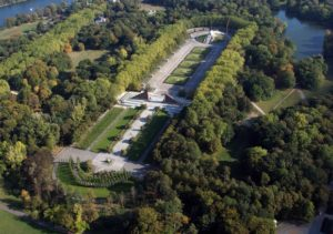 "Aerial view of the ""Soviet War Memorial"" at Berlin"