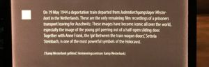 One of two signs pertaining to trains during WWII