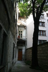 The forgotten ruins of the wall of a Jewish ghetto in Budapest; the Jewish people once thrived in Budapest during a time of prosperity
