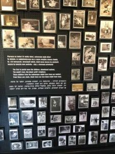 Wall of Childrens' pictures at Auschwitz-Birkenau