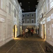 Replica of Jewish street in Warsaw.