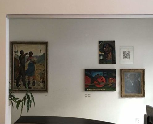 Art inside of the Romafuturism Library (Photo Credit: Raymundo Juarez)