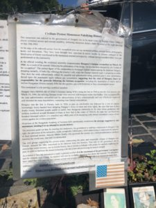 Letter written by citizen protesting the monument translated to English