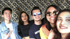Syracuse University students who are part of the diaspora. From left to right, Justin - Chinese American, Tanushri - Indian who studies in America, Hanz - Filipino, who grew up in Dubai, Emiri - Japanese, who grew up in Thailand, Malvika – Indian who grew up in Singapore and Dubai