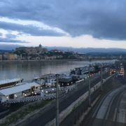 The view across the Danube towards Castle Hill.