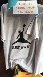 Shirt sold at The Dohány Street Synagogue