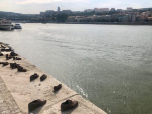 The Budapest Shoe Memorial. Photo by Taylora Krzeminski