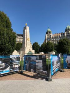 A monument to Soviet Liberators that stands tall and bright in Budapest