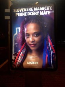 Absolut advertisement expressing diversity in Slovakia.
