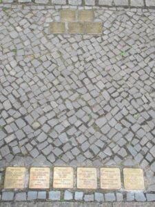 Stepping Stones - simple memorials in Berlin marking the houses where Jewish Holocaust victims lived before deportation, forcing people to confront the reality of the Holocaust as they move through the city.