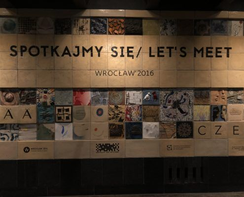 The motto of Wroclaw found in the underpass at Galeria Dominikanska. Wroclaw is known as the meeting place for multiculturalism.