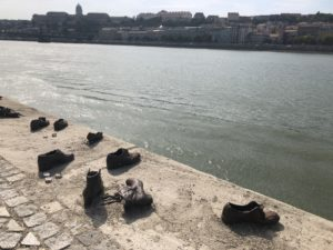 Shoes on the Danube Bank in Budapest, Hungary